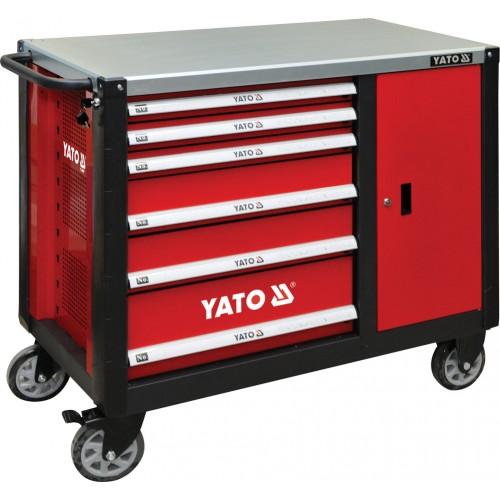 Инструментальная тележка с 6 ящиками YATO YT-09002