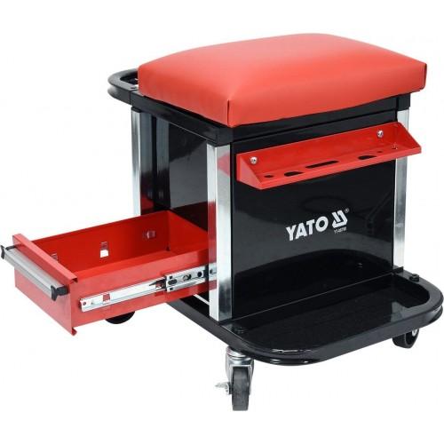 Табурет для мастера с двумя выдвижными ящиками YATO YT-08790