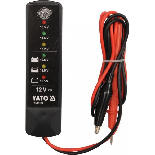 Цифровый  аккумуляторный тестер 12v YT-83101