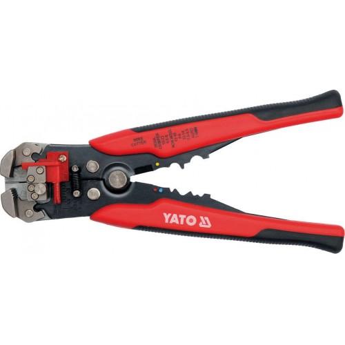 Инструмент для обжима и зачистки изоляции проводов от 0,2 мм2 до 6,0 мм2, длина: 195мм YATO YT-2270