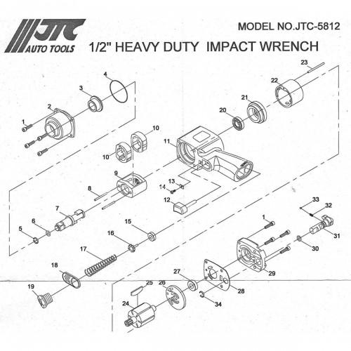 Штифт ремкомплект для гайковерта 5812 JTC 5812-23 JTC