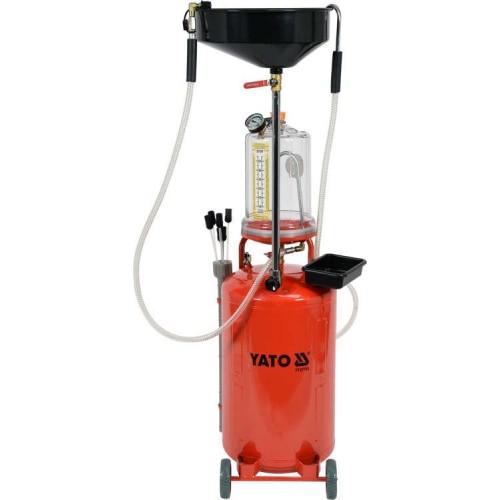 Установка объемом 70 литров для слива и откачки масла с мерной колбой YATO YT-07190