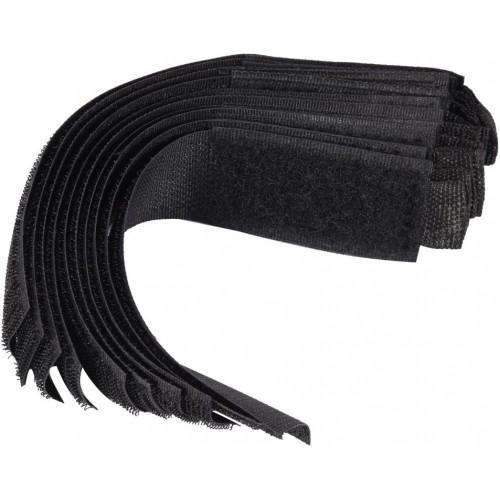 Хомут-липучка черный 25 х 150 мм (10шт.) VOREL