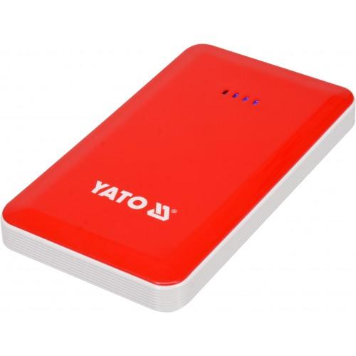 Многофункциональное пусковое устройство Li-Pol: 7.5 А/час, 200/400 А, питание через USB: 5В, 2А YATO YT-83080