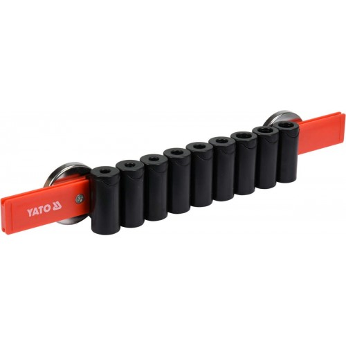 Держатель для 9 отверток с магнитным креплением  YATO YT-08353