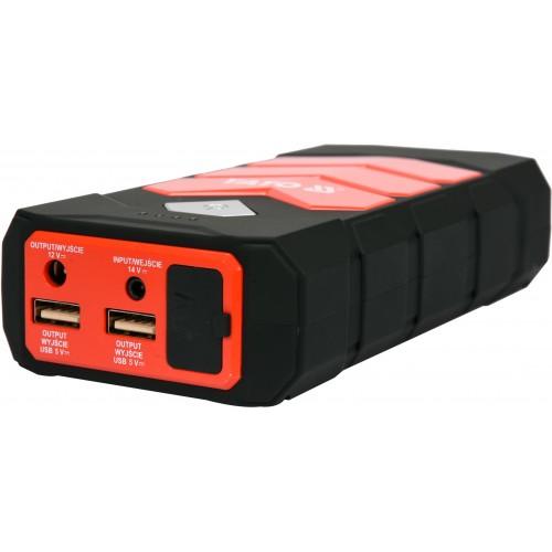 Многофункциональное пусковое устройство Li-Pol: 9 А/час, 200/400 А, выход: 12 В, 3,5 А, через USB: 5В, 2А YATO YT-83081