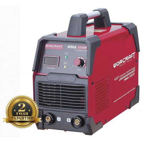 Сварочный аппарат инверторный 7300 Вт. 200 А. для электродов 1,6-5,0 мм. MMA-200DP WORCRAFT