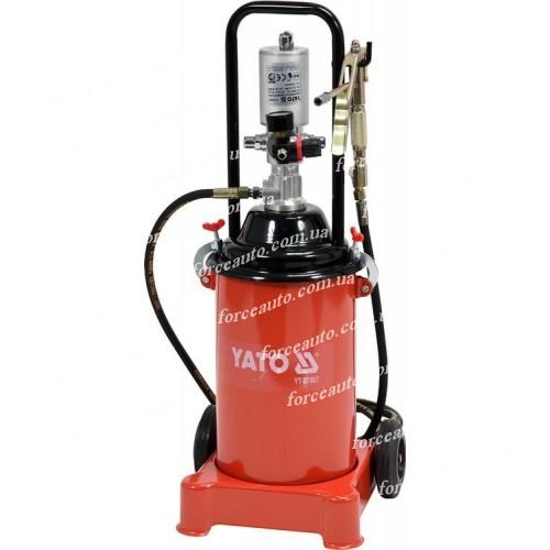 Установка пневматическая 12 л для подачи масла под высоким давлением 400 бар YATO YT-07067