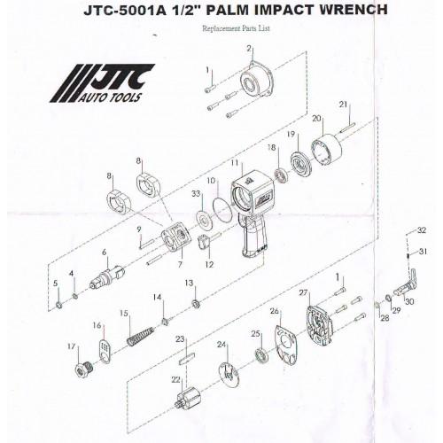 Штуцер  ремкомплект для пневмогайковерта 5001A JTC (5001A-17 JTC)