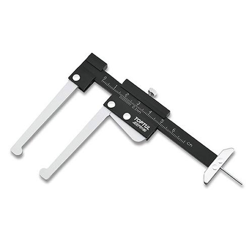 Штангенциркуль для измерения тормозных дисков и глубины протектора колес TOPTUL JEEF0160