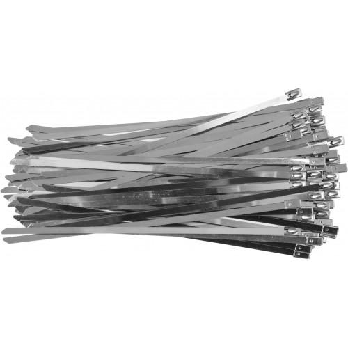 Стальные затяжные хомуты 4,6 х 200 мм (100шт) YATO YT-70561