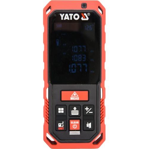 Дальномер лазерный, 10 режимов,с диапазоном 0.2- 60 м, погрешность ±2 мм, 20 замеров в памяти YATO YT-73127