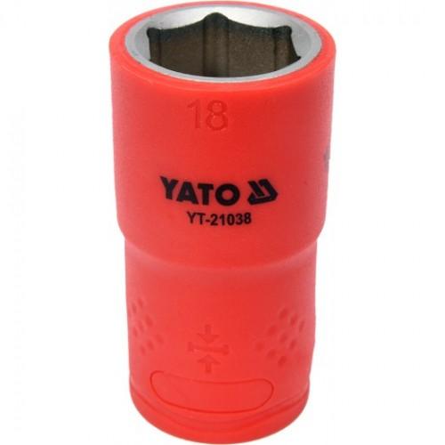 Головка торцевая диэлектрическая 6-гранная YATO : квадрат 1/2