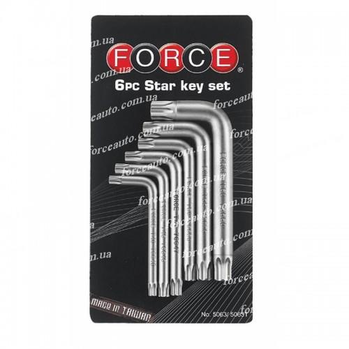 Набор угловых ключей TORX Т40-Т60 6ед. FORCE 5063 F