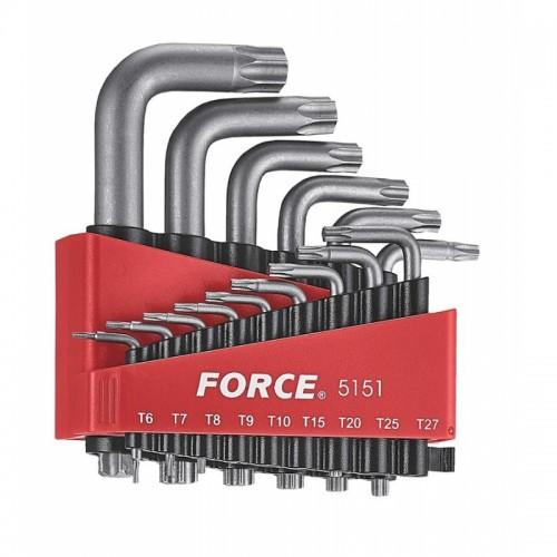 Набор ключей TORX Г-образных Т6-Т60 15ед. FORCE 5151 F