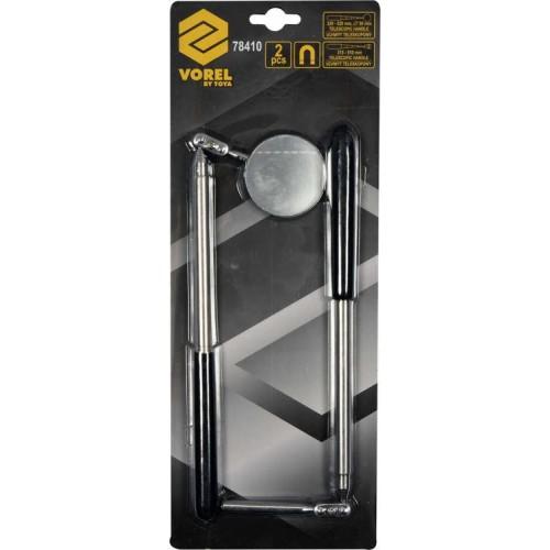 Комплект для осмотра: зеркало и захват с магнитом 2 ед.  VOREL 78410