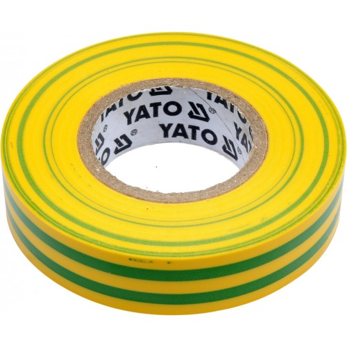 Изолента ПВХ желто-зеленая 15мм х 20м х 0,13мм YATO YT-81593