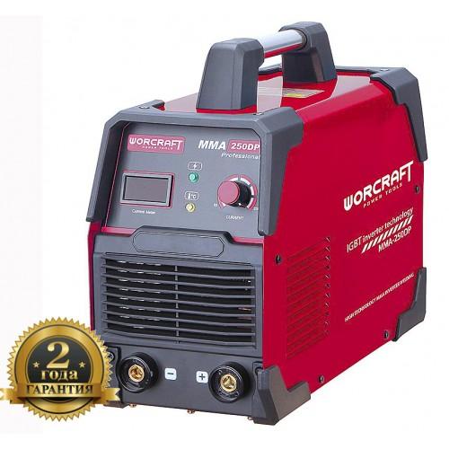 Сварочный аппарат инверторный 9600 Вт. 250 А., для электродов 1,6-6,0 мм.MMA-250DP WORCRAFT