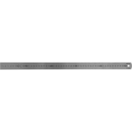 Линейка из нержавеющей стали: L= 500 x 19 мм, двухсторонняя шкала YATO YT-70722