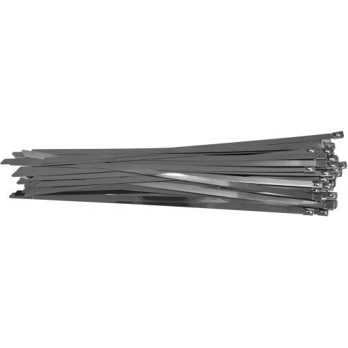 Стальные затяжные хомуты 8,0 х 400 мм (50шт) YATO YT-70584