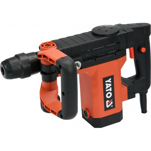 Отбойный молоток SDS MAX електросетевой 230 В YATO : P= 1150 Вт, J = 15 Дж. 5100 удар/мин YT-82133