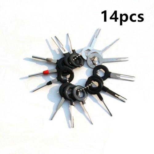 Комплект специнструмента для работы с авто/электроразъемами (пинами) 14 ед. VAGER 116693