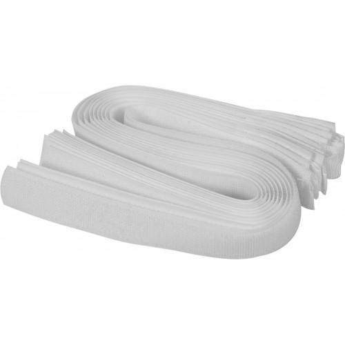 Хомуты-липучка белые 25 х 450 мм (10шт.) VOREL 73845