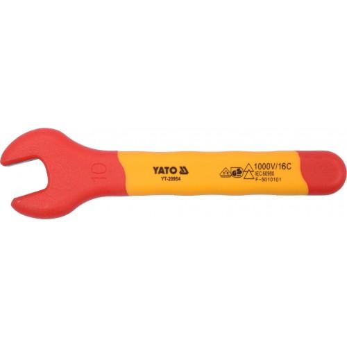 Рожковые гаечные ключи диэлектрические  VDE до 1000V,  YATO YT-20954 Series в ассортименте
