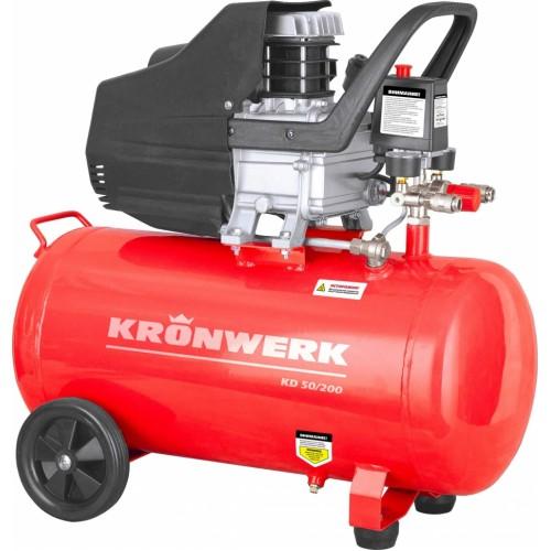 Компрессор поршневой прямой масляный, 1,5 кВт, 198 л / мин, 50 л // KRONWERK KD 50/200