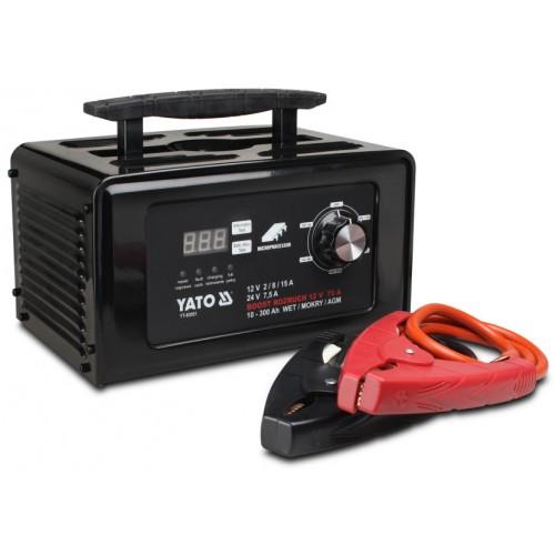 Зарядное устройство 12/24в, 30а YATO YT-83052