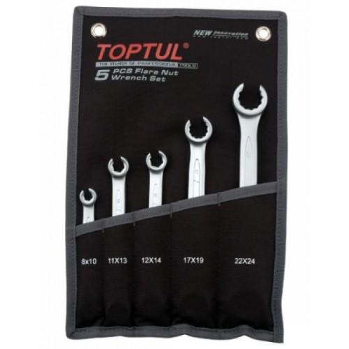 Набор ключей  разрезных  5 шт.8-24 (черный чехол) TOPTUL GPAQ0502