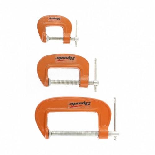 Набор: струбцины G-образные, 3 шт, 25-50-75 мм. SPARTA