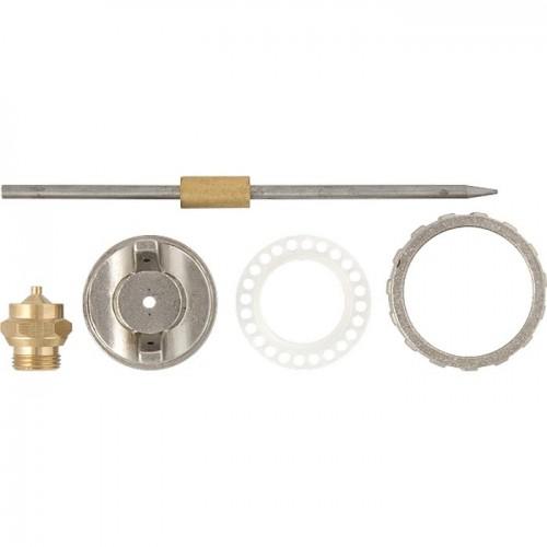 Ремкомплект для краскораспылителя 4 предмета : сопло 1,8 мм + игла + форсунка + зажим сопло. MATRIX