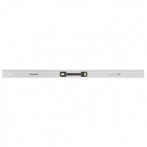 Линейка-уровень, 1000 мм, металлическая, пластмассовая ручка 2 глазка. MATRIX MASTER