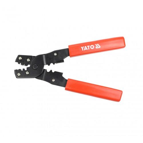 Инструмент для обжима и зачистки изоляции проводов, длина: 180мм YATO YT-2256