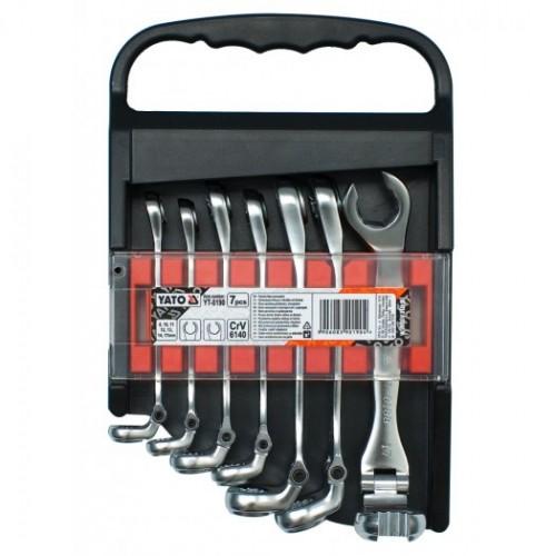 Набор ключей разрезных с шарниром 7шт. размер: 8, 10, 11, 12, 13, 14, 17 mm.