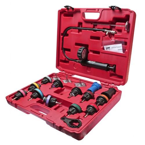 Набор для тестирования герметичности охладительной системы (пластиковый) 19 единиц