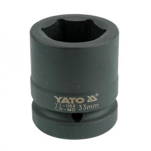 Головка торцевая  ударная 6-гранная 1х33мм YATO YT-1188