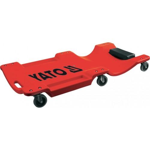 Лежак пластиковый ремонтный на 6 колесах,  длина: 1000мм YATO YT-0880