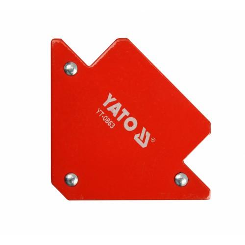 Магнитная струбцина заварки 82х120х13 мм с углами 45 °, 90 ° и 135 ° YATO YT-0863
