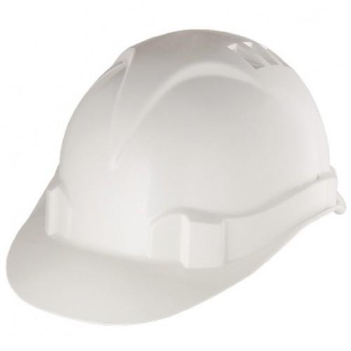 Каска защитная из ударопрочной пластмассы, белая,   СИБРТЕХ 89114