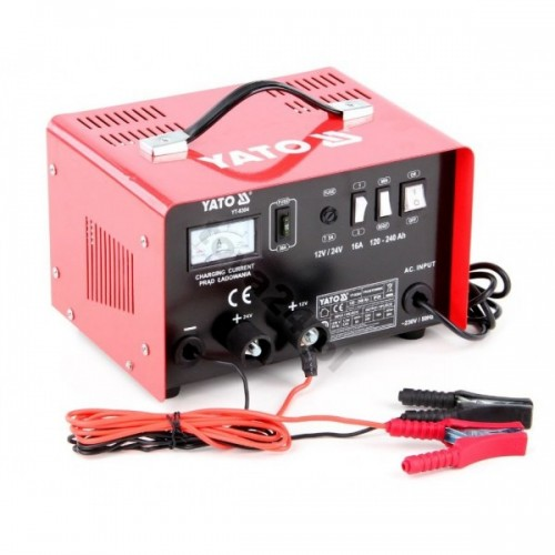 Зарядное устройство 12/24v 16а 240Ah YATO YT-8304