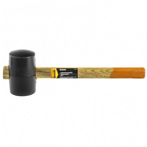 Киянка резиновая, 450 г, черная резина, деревянная рукоятка SPARTA 111505