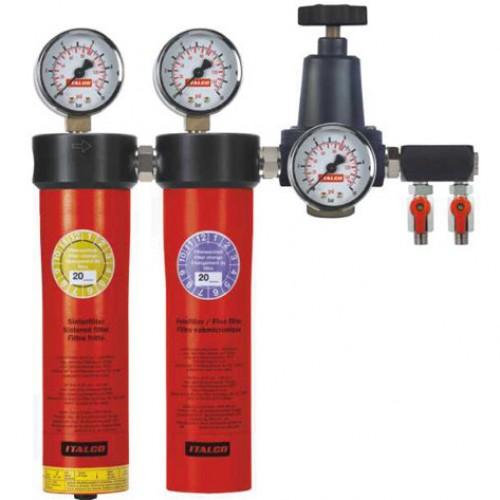 Блок подготовки воздуха профессиональный (2 ступени)  ITALCO AUARITA AC6002