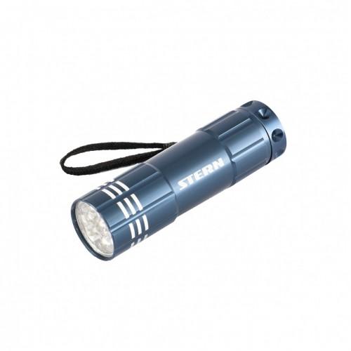 Фонарь бытовой алюминиевый, синий, 9 LED, 3 х ААА. STERN