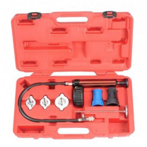 Набор инструментов для тестирования герметичности охладительной системы (в кейсе) 7 предметов