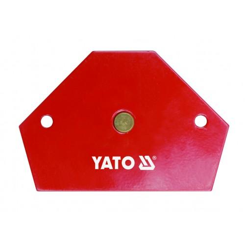 Магнитная струбцина для сварочных работ, размер: 64х95х14мм с углами 30 °, 45 °, 60 °, 75 °, 90 ° и 135 °. YATO YT-0866