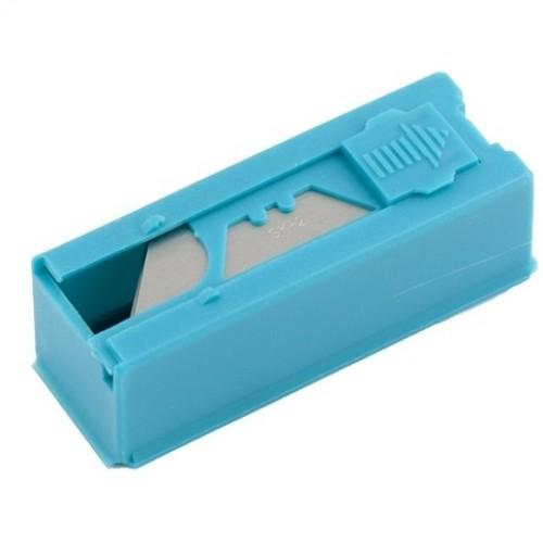 Лезвия, 19 мм, трапециевидные, пластиковый пенал, 12 шт, GROSS