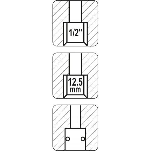 """Быстродейств. муфта с внут. резьбой 1/2"""" YATO YT-2395"""