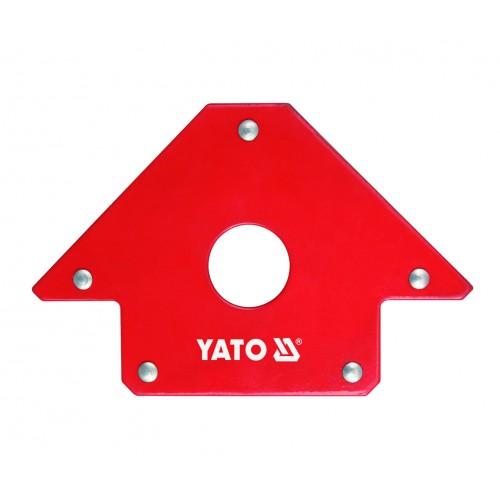 Магнитная струбцина для сварочных работ, размер: 102x155x17мм с углами 45 °, 90 ° и 135 °. YATO YT-0864